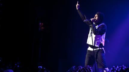 Foto de Asap Rocky en concierto