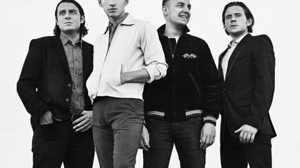 Foto de Arctic Monkeys en blanco y negro