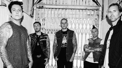 Foto de Avenged Sevenfold en blanco y negro