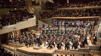 foto de la orquesta filarmonica de berlin