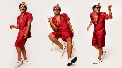 Foto de Bruno Mars triplicado