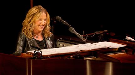 Foto de Diana Krall al piano