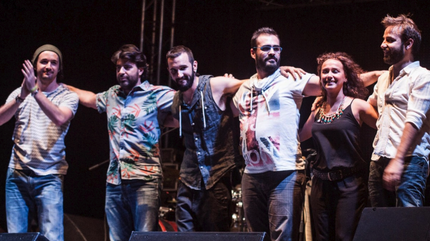 Los componentes de Duván du Don tras finalizar su concierto