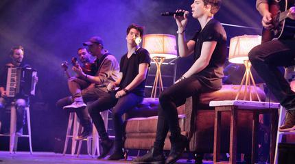 Foto de los Gemeliers en concierto