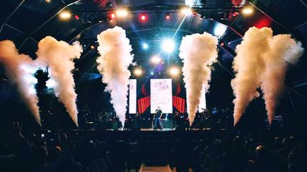 Foto de Gente de Zona en concierto