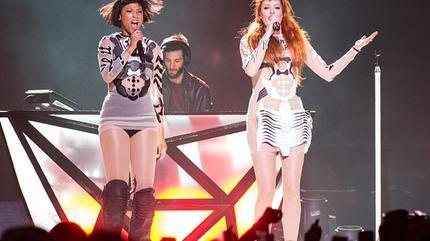 Icona Pop en concierto.
