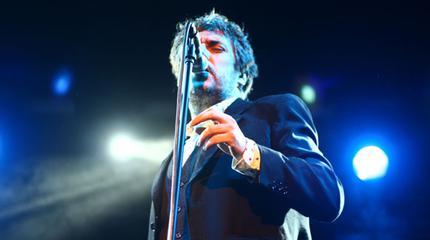 El cantante Iván Ferreiro en directo.