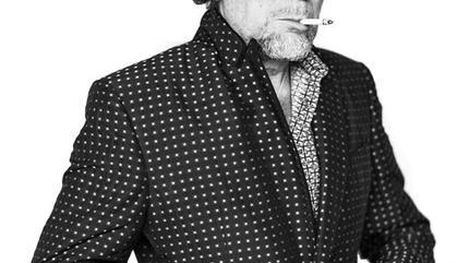 Foto de Joaquín Sabina en blanco y negro