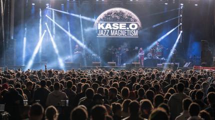 El rapero Kase.O en concierto.