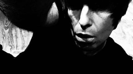 Foto de Liam Gallagher en blanco y negro