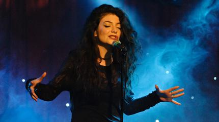Foto de Lorde en directo.