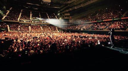 Foto de un concierto de Malú desde el escenario