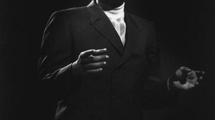Foto de Marvin Gaye en blanco y negro