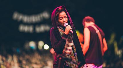 Foto de Nneka en concierto