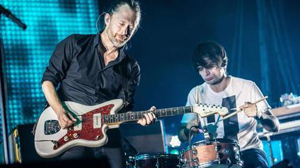 Foto de Radiohead en concierto