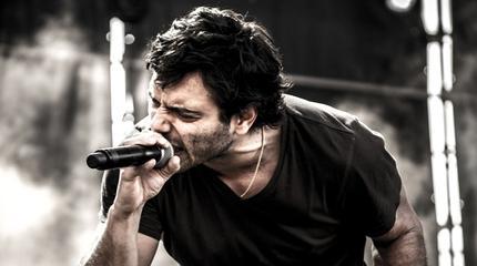 El rapero Sharif en concierto.