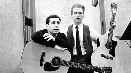Foto del duo estadounidense de folk pop Simon and Garfunkel