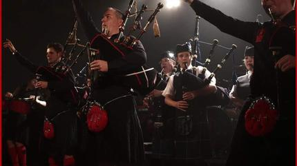 Concierto de Red Hot Chilli Pipers en Tarrytown