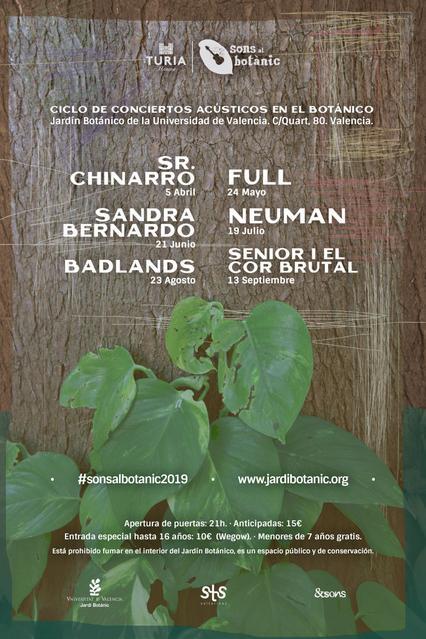 Cartel oficial Sons al Botànic