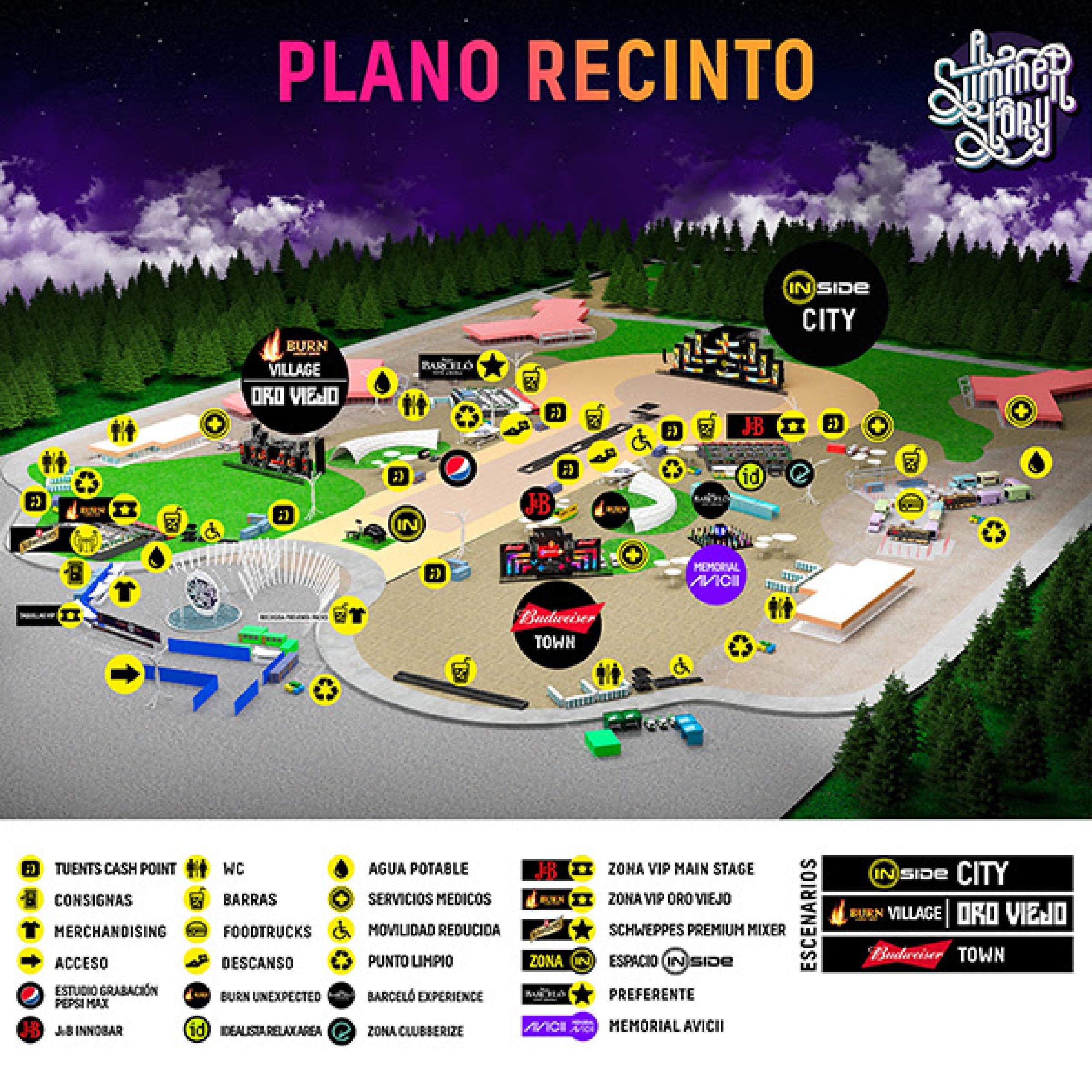 Plano del recinto A Summer Story 2018