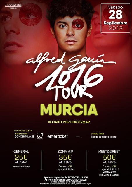 Concierto Alfred Garcia- Sábado 28 Septiembre - Murcia