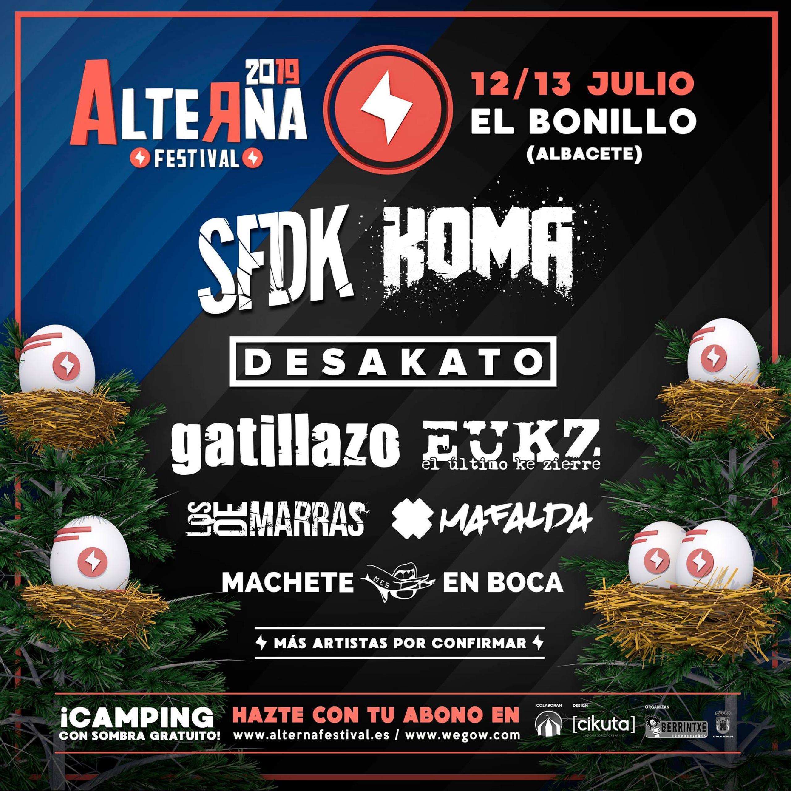 Cartel completo Alterna Festival 2019