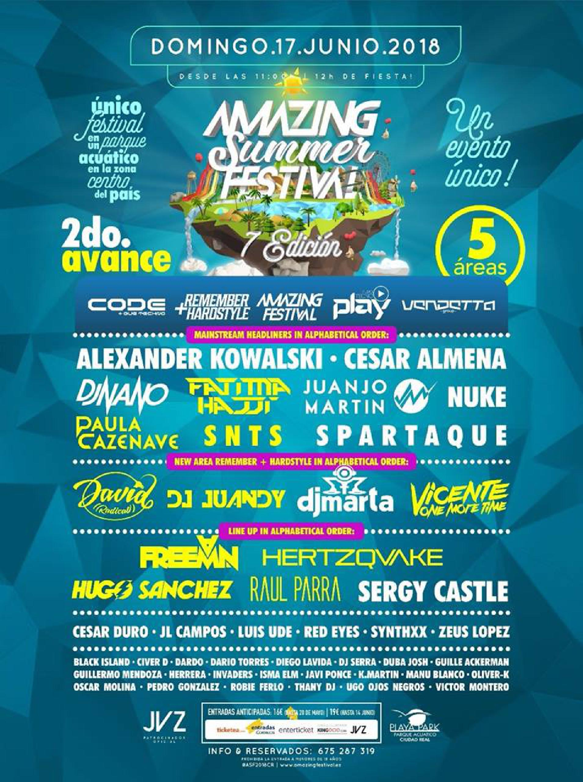 Cartel Amazing summer Festival 2018