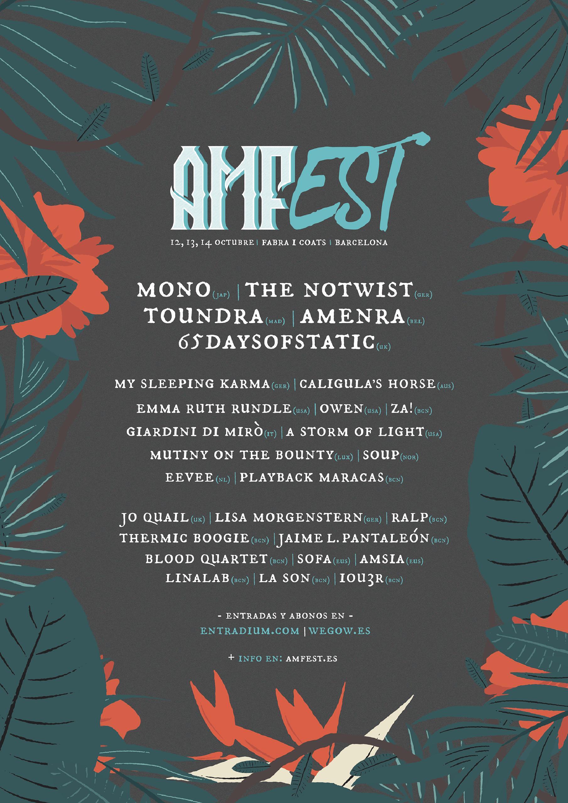 Cartel AMFest 2018 entradas a la venta
