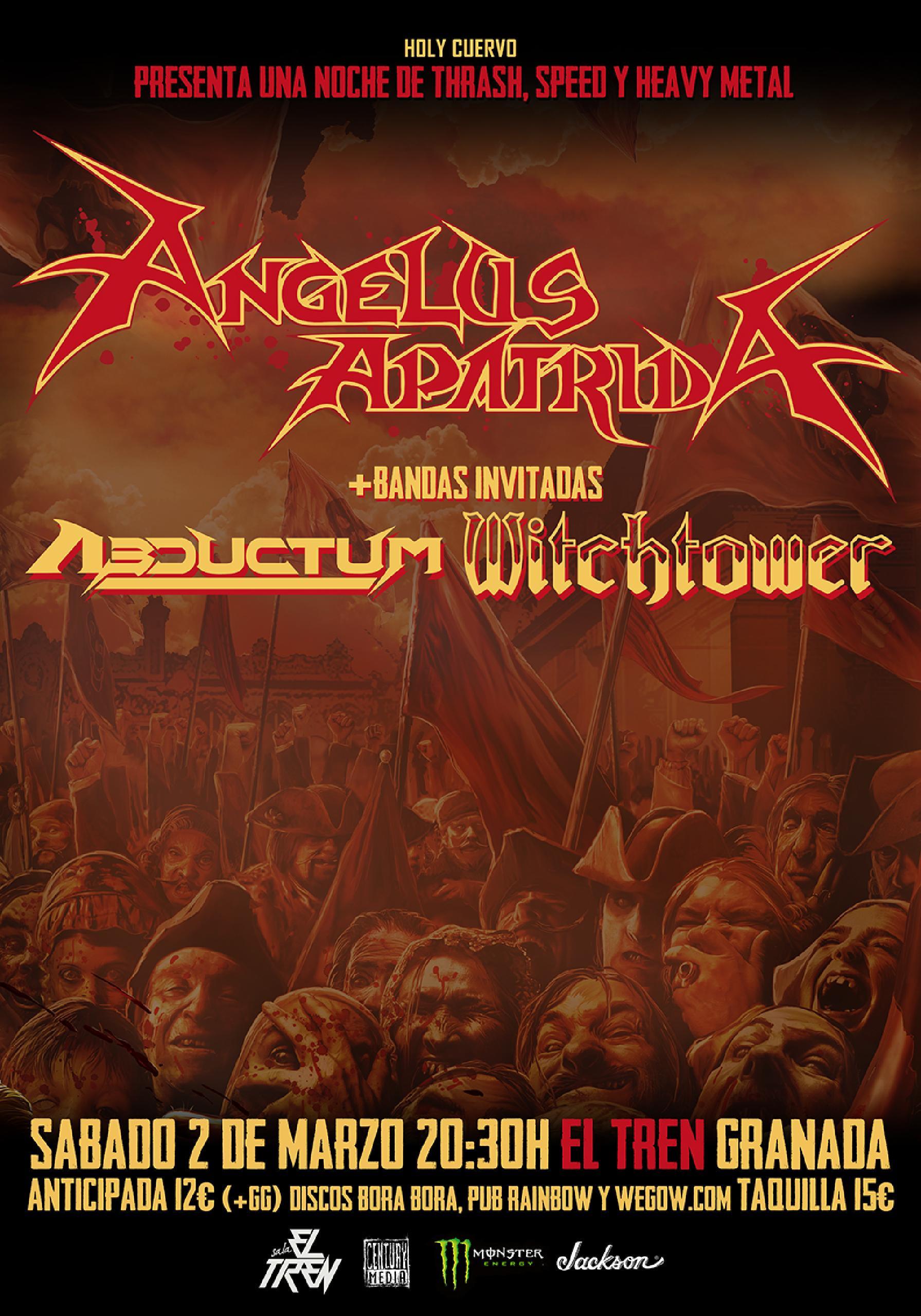 Angelus Apatrida + Abductum + Witchtower en Granada.