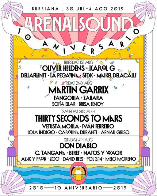 Confirmaciones cartel Arenal Sound 2019