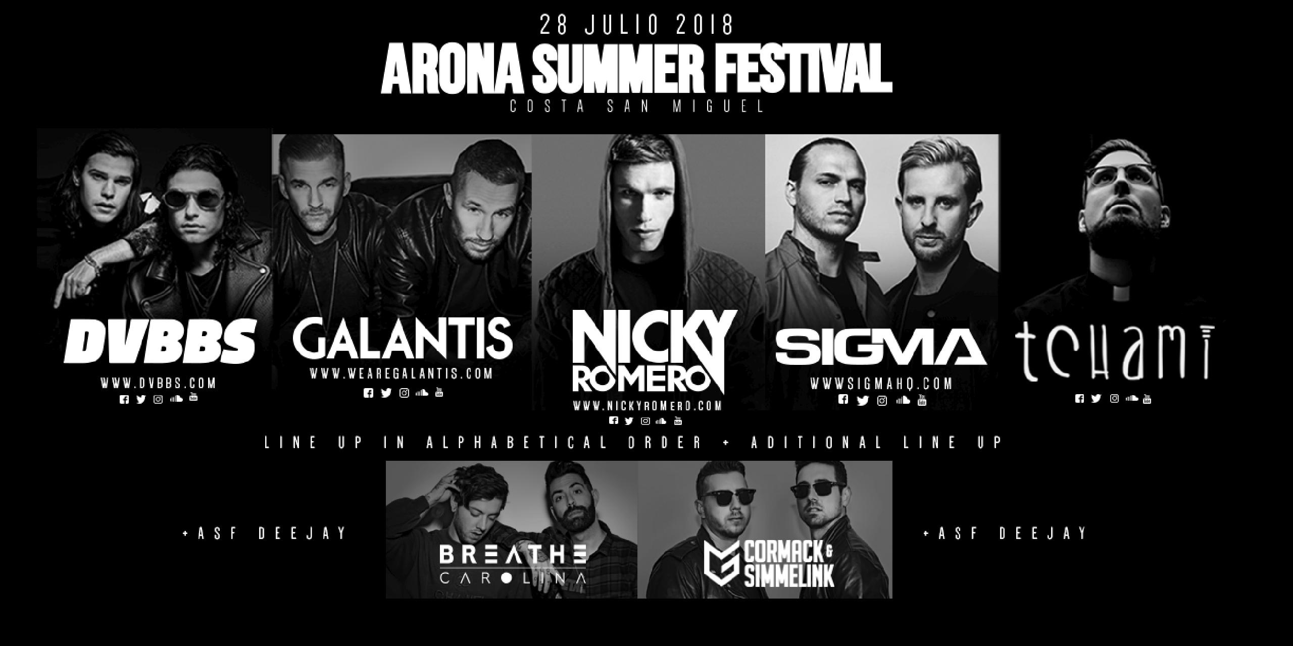 Foto del cartel de Arona Summer Festival 2018