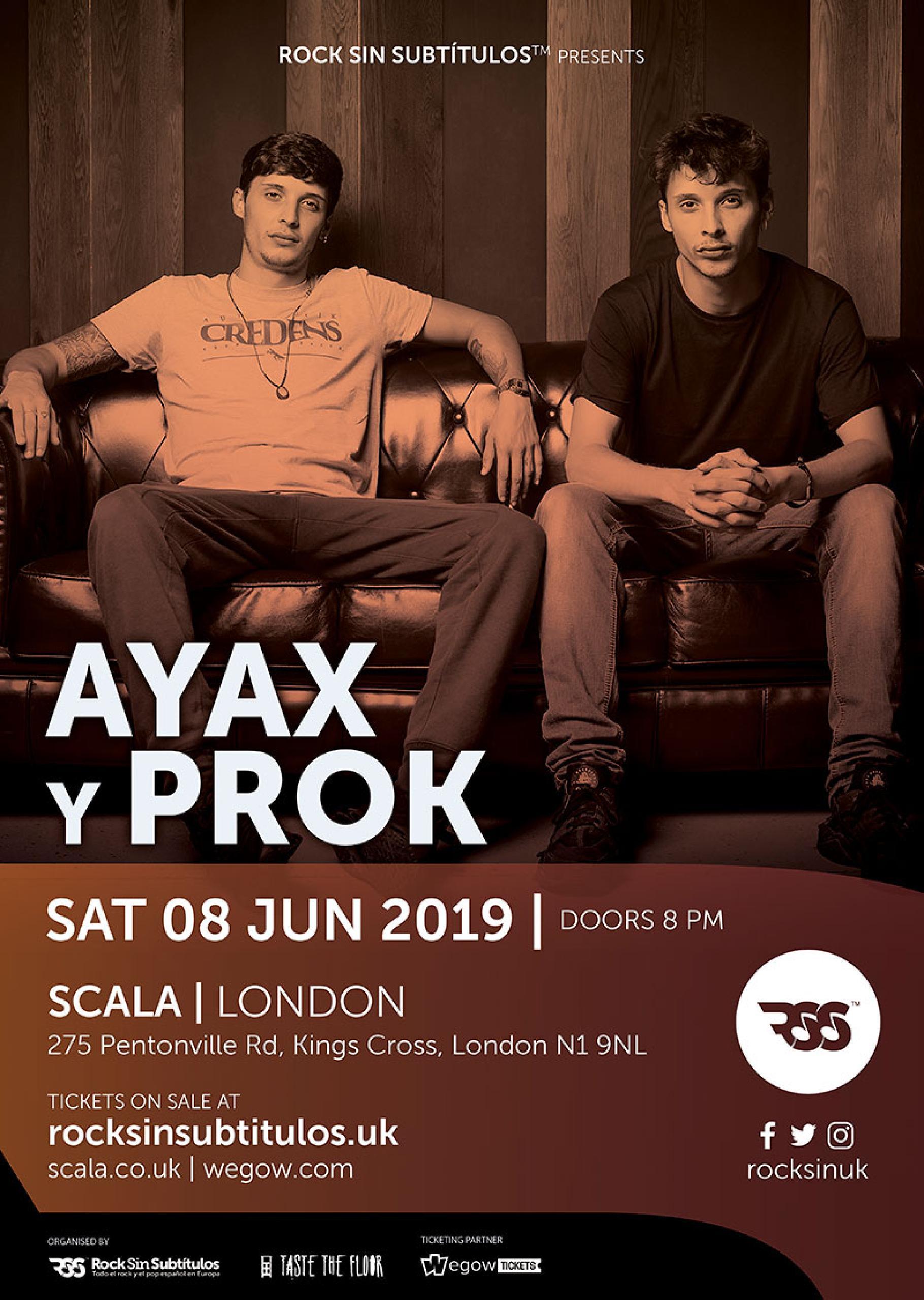Sábado 8 junio 2019 / 20 horas @ Scala, Londres