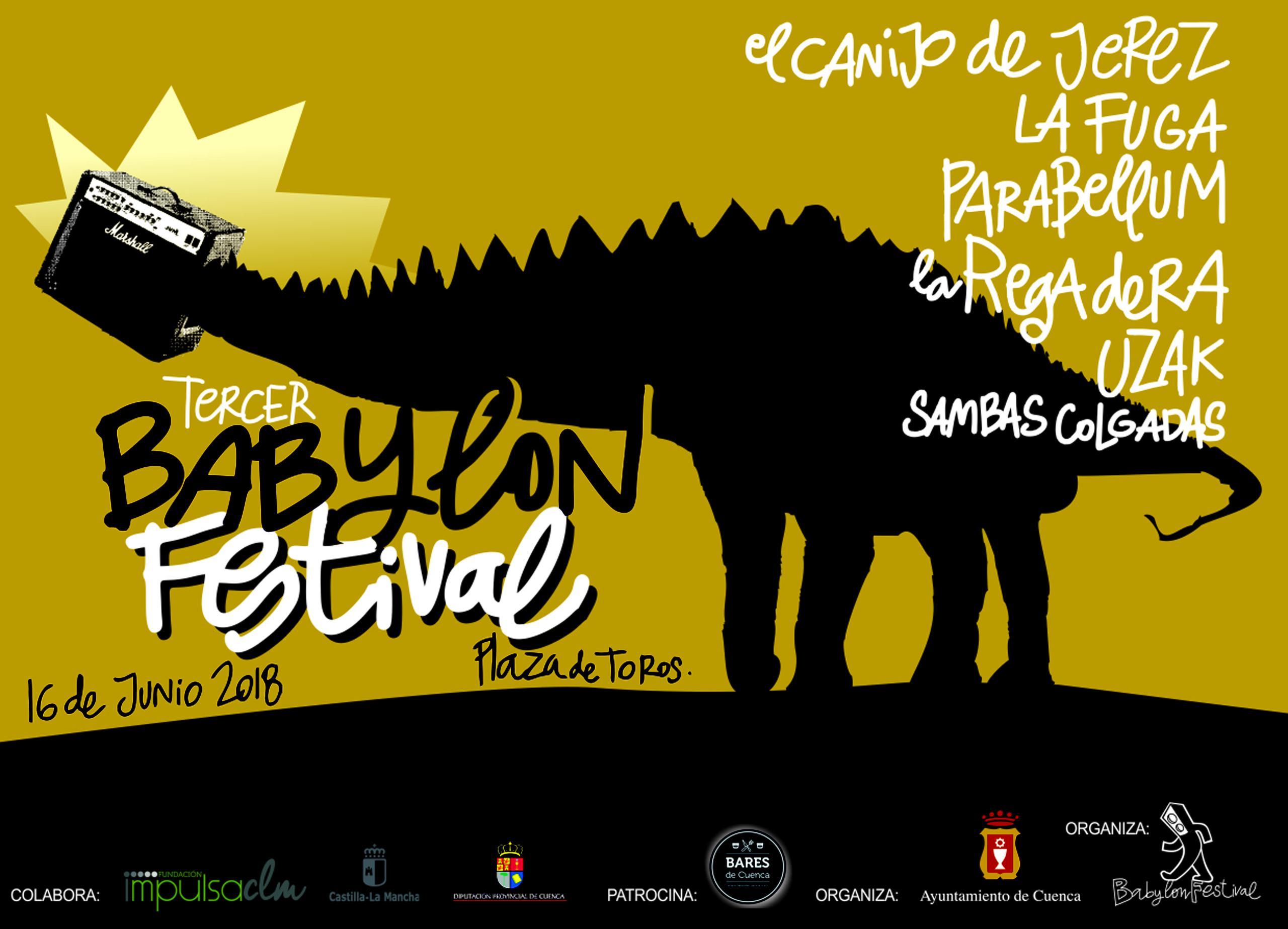Cartel con las bandas de Babylon