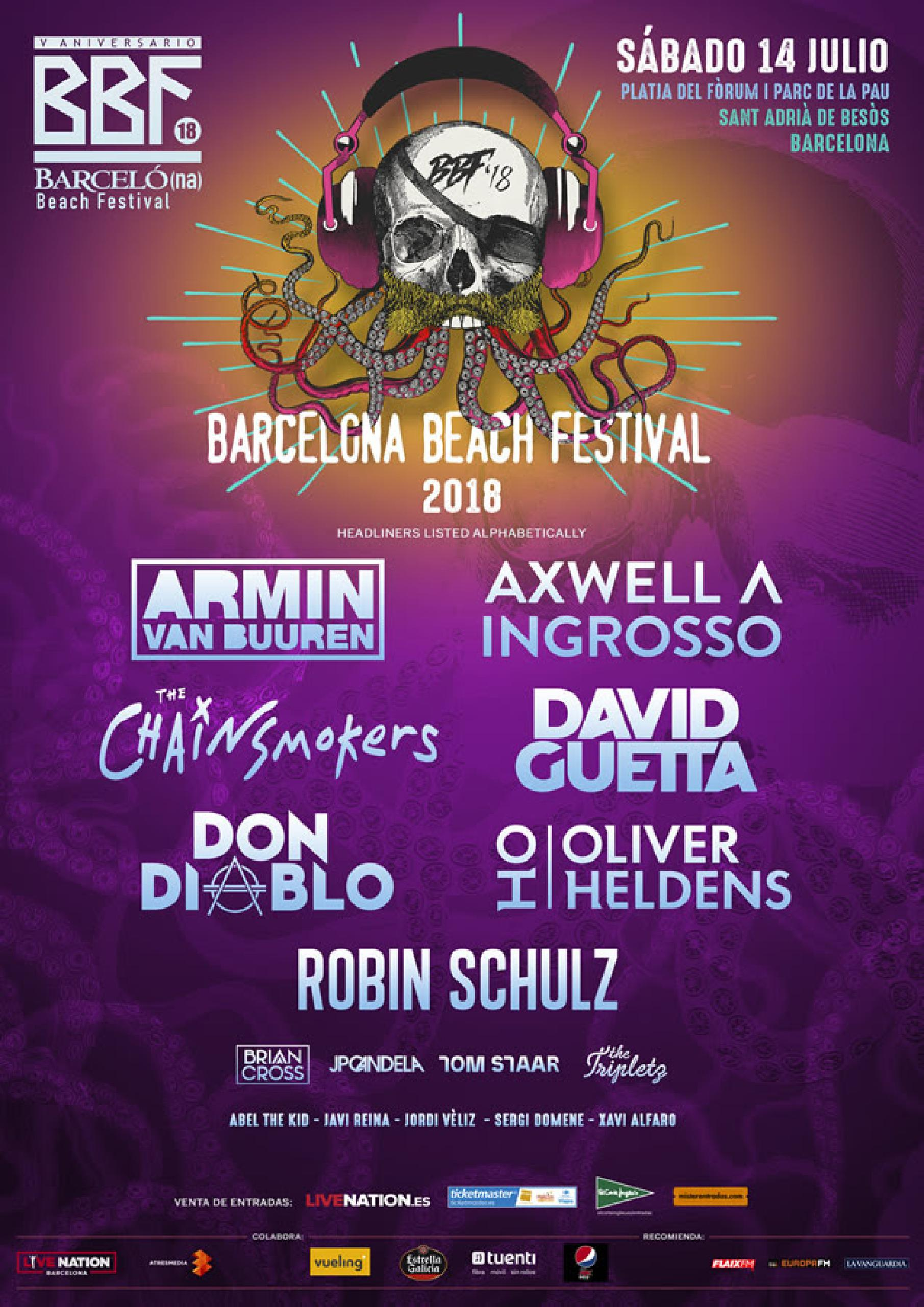 Cartel Barcelona Beach Festival 2018