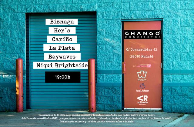 Biznaga + Her's + La Plata + Cariño + Baywaves + Miqui Brightside