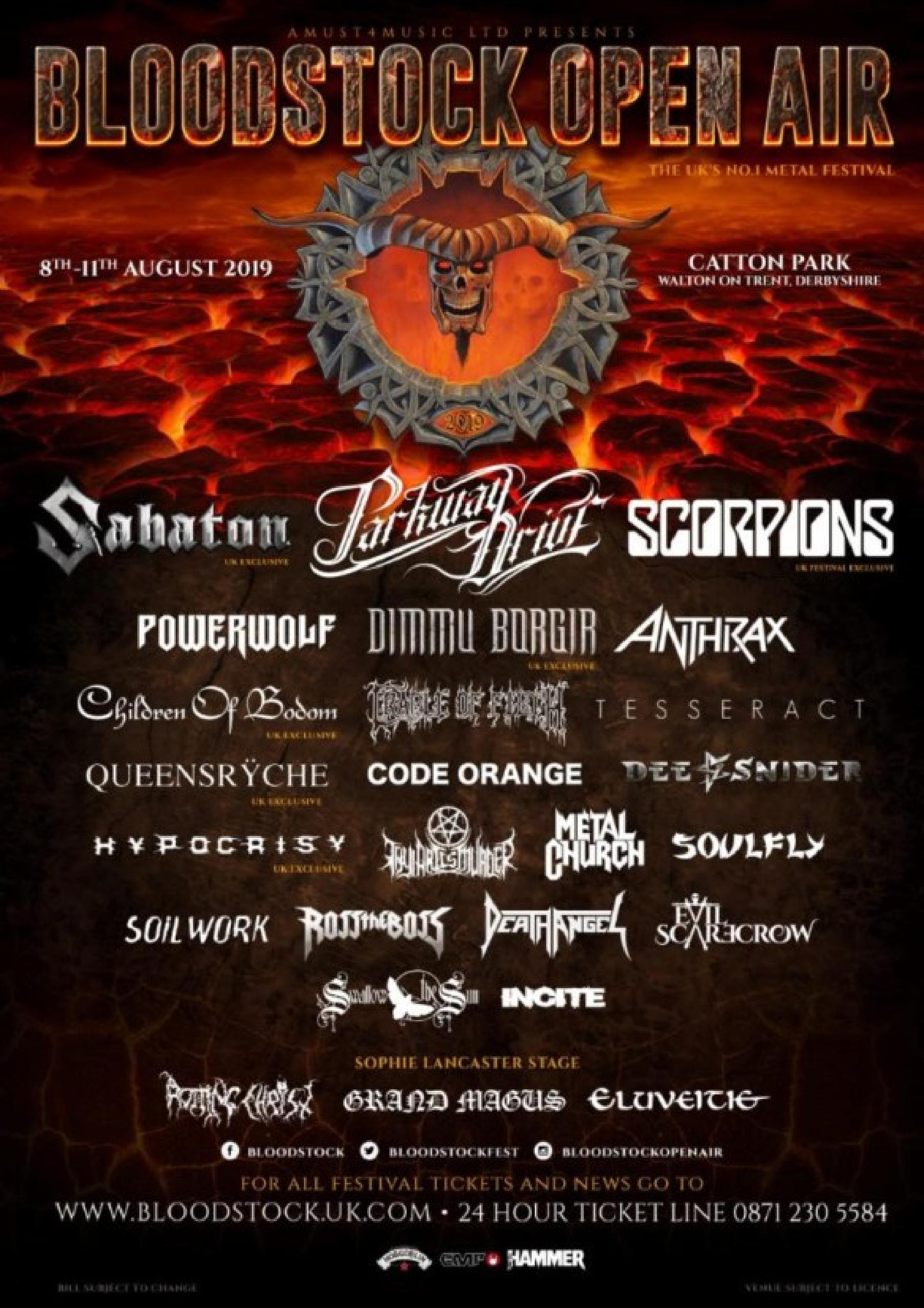 Bloodstock Open Air Festival lineup