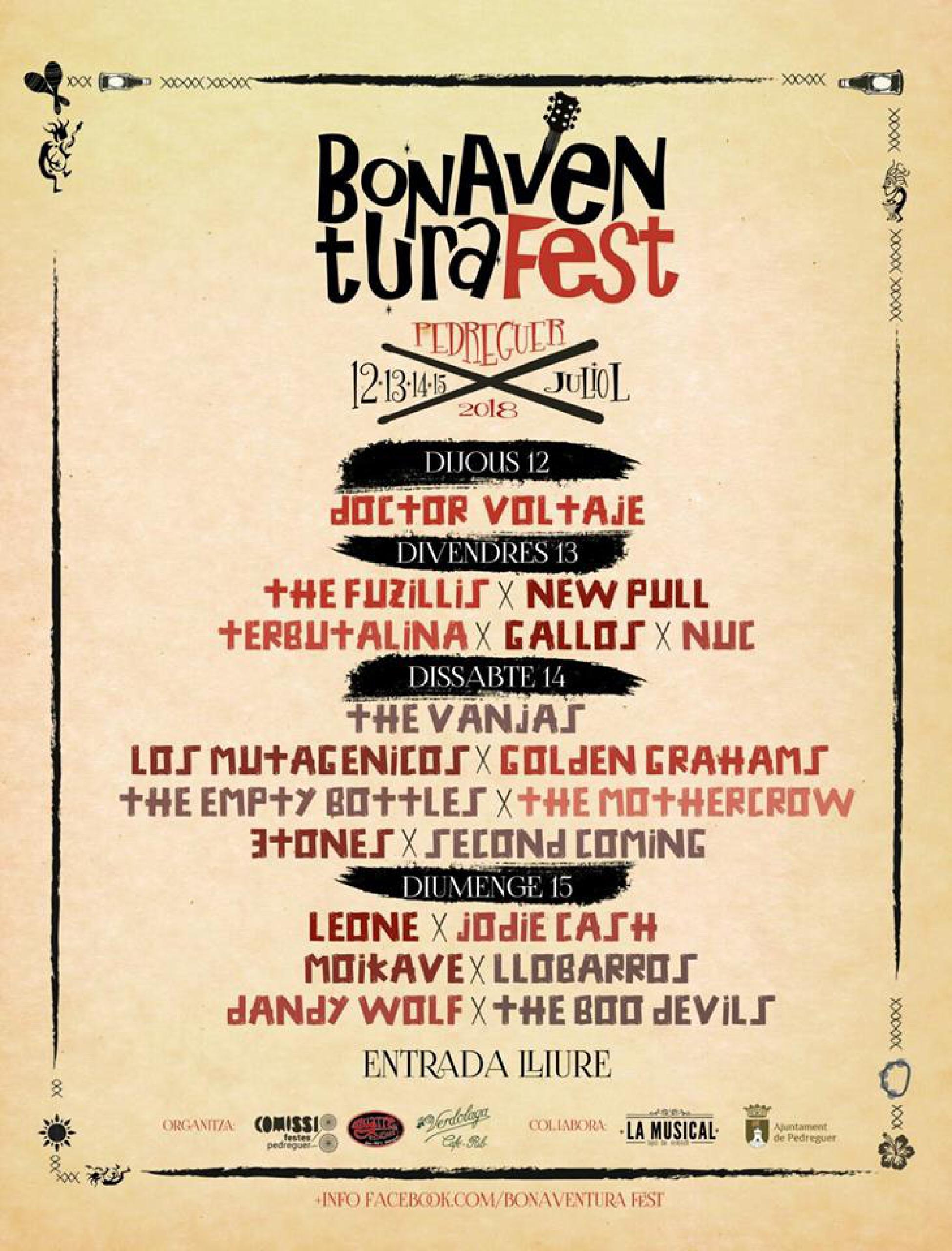 Foto del cartel de Bonaventura Fest 2018