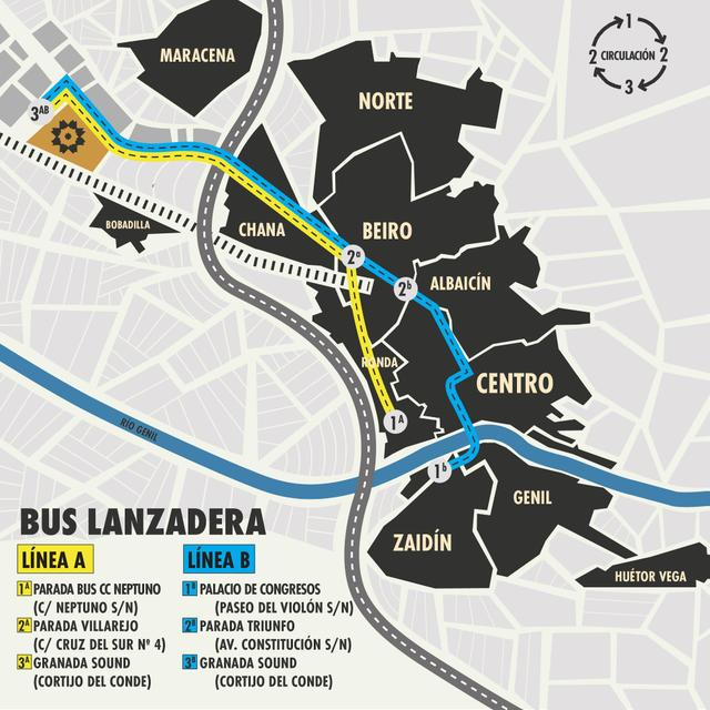 Mapa bus lanzadera