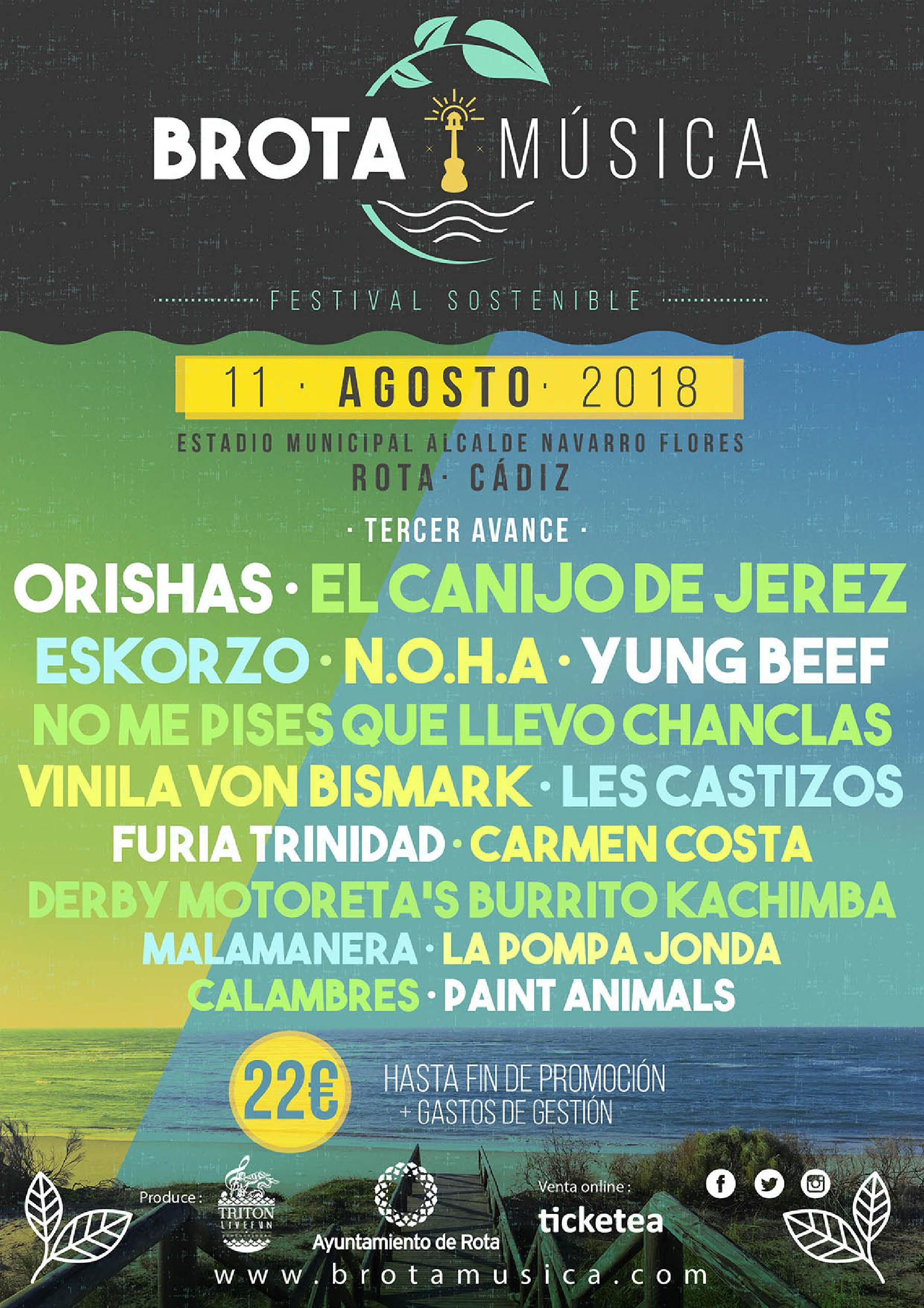 Cartel Brota Música 2018