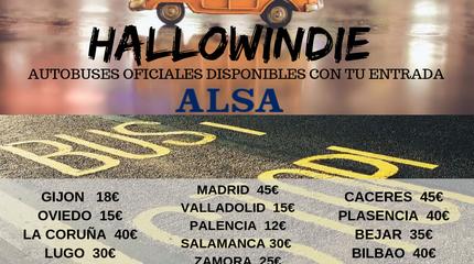 Autobuses Alsa para Hallowindie