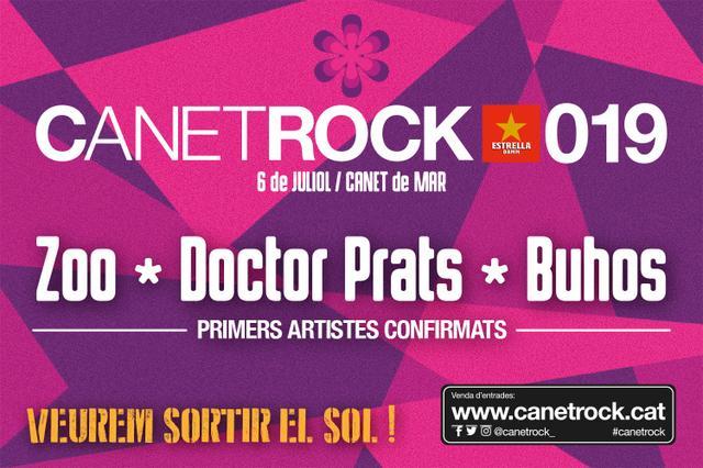 Cartel primeras confirmaciones Canet Rock 2019