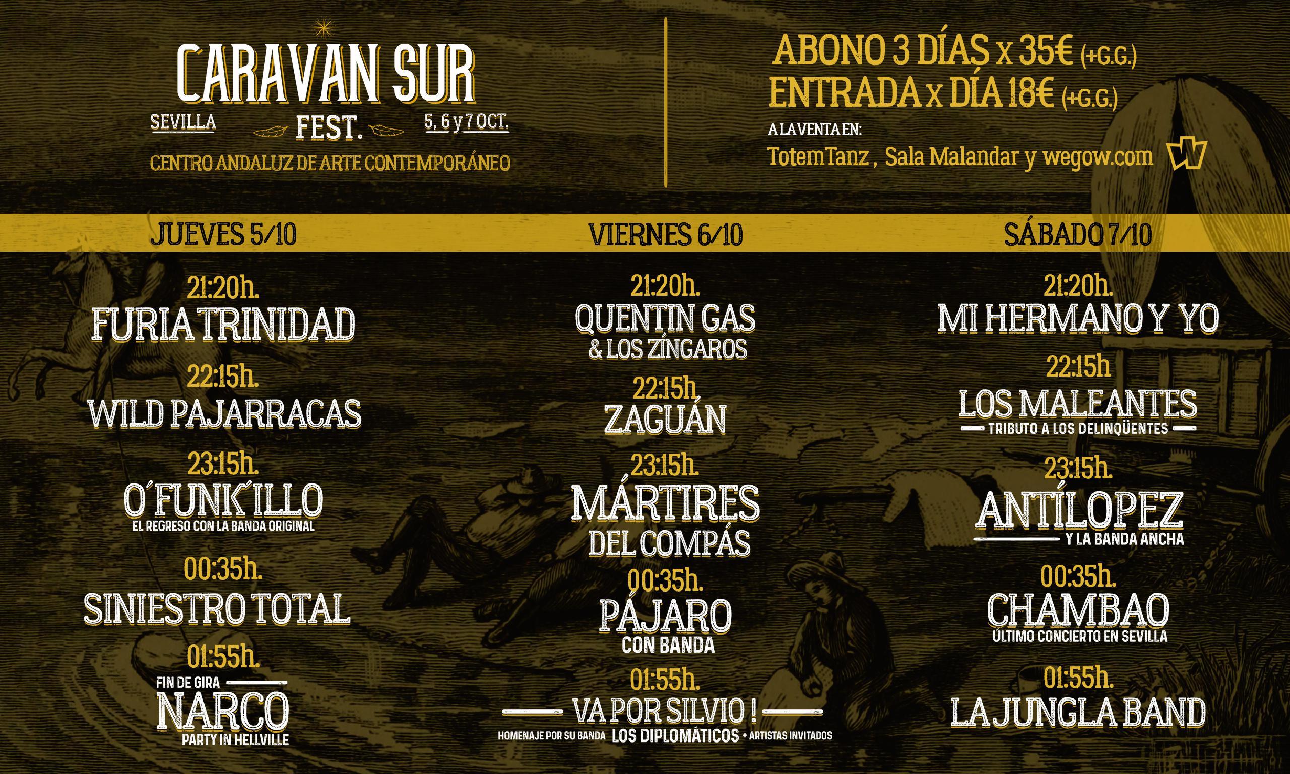 Caravan sur fest. Sevilla 5, 6 y 7 Octubre. En el Centro Andaluz de Arte contemporáneo