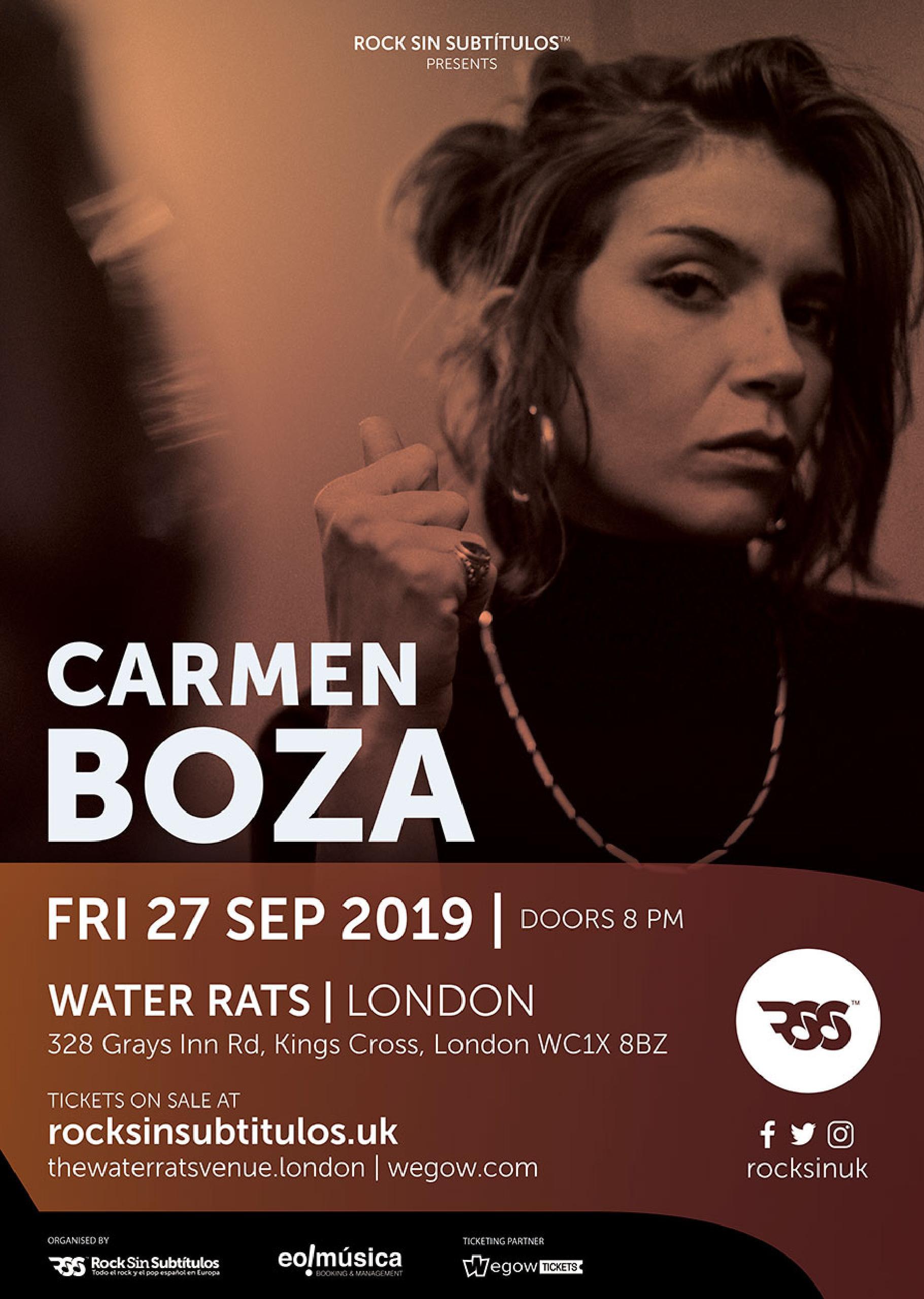 Viernes 27 Septiembre 2019 / 20 horas @ Water Rats, Londres