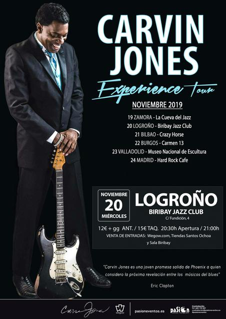 Carvin Jones - Experience Tour