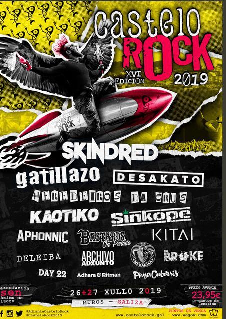 Confirmaciones cartel Castelo Rock 2019