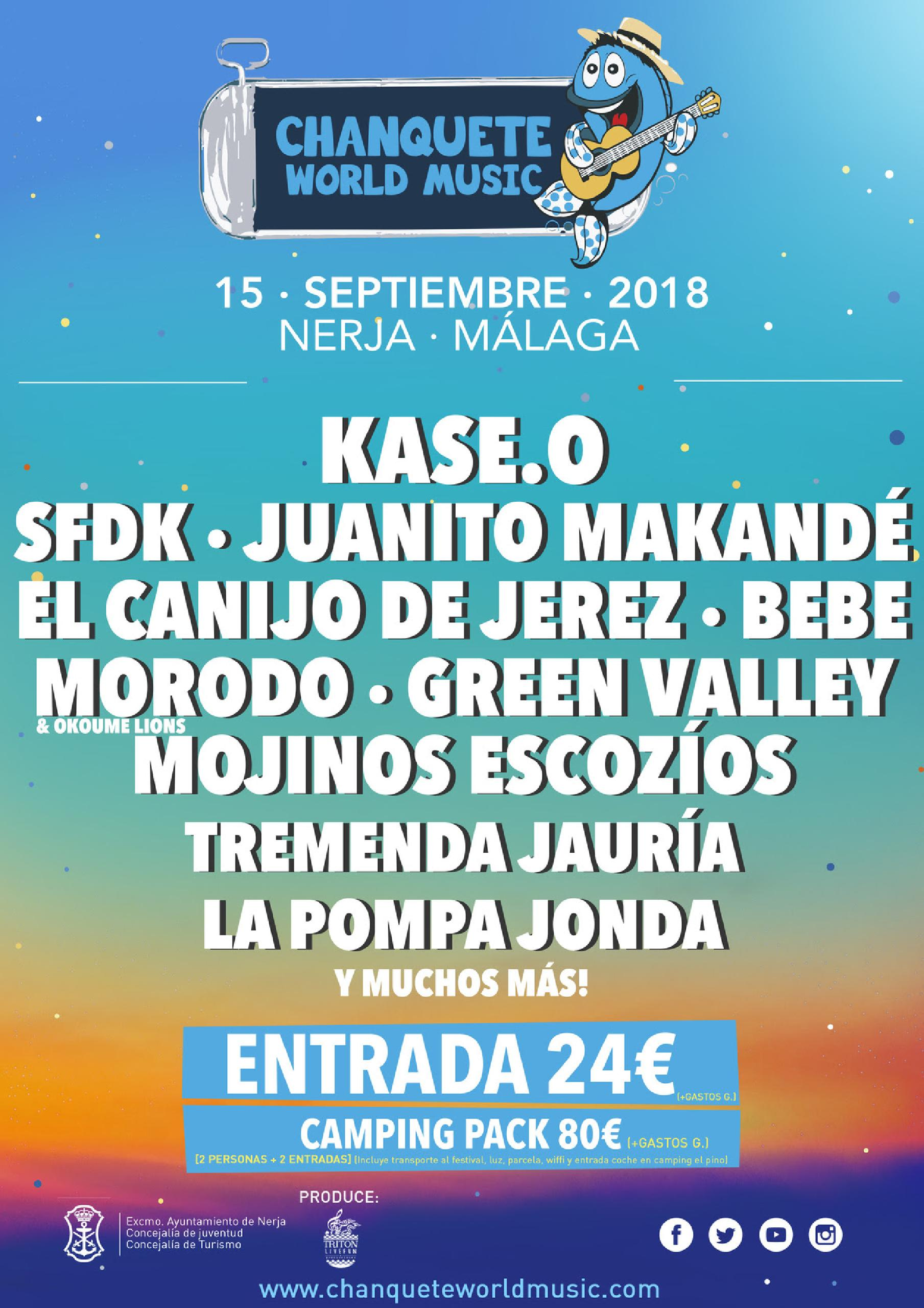 Confirmaciones cartel Chanquete World Music 2018
