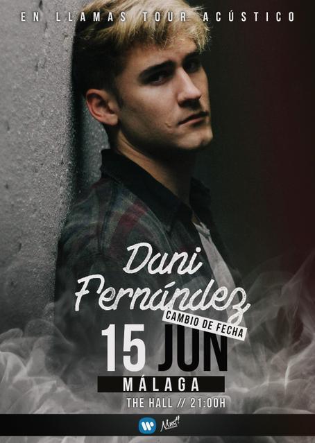 Concierto acústico de Dani Fernández En llamas tour - Málaga