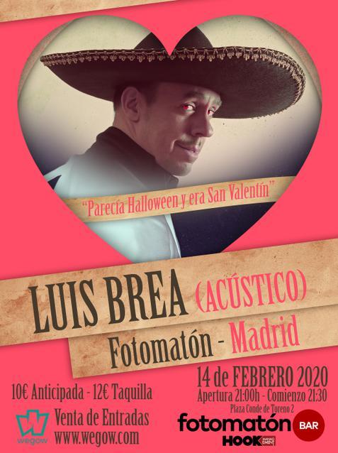 Concierto acústico de Luis Brea Fotomatón Bar