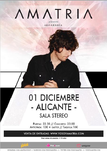 Cartel Amatria Alicante