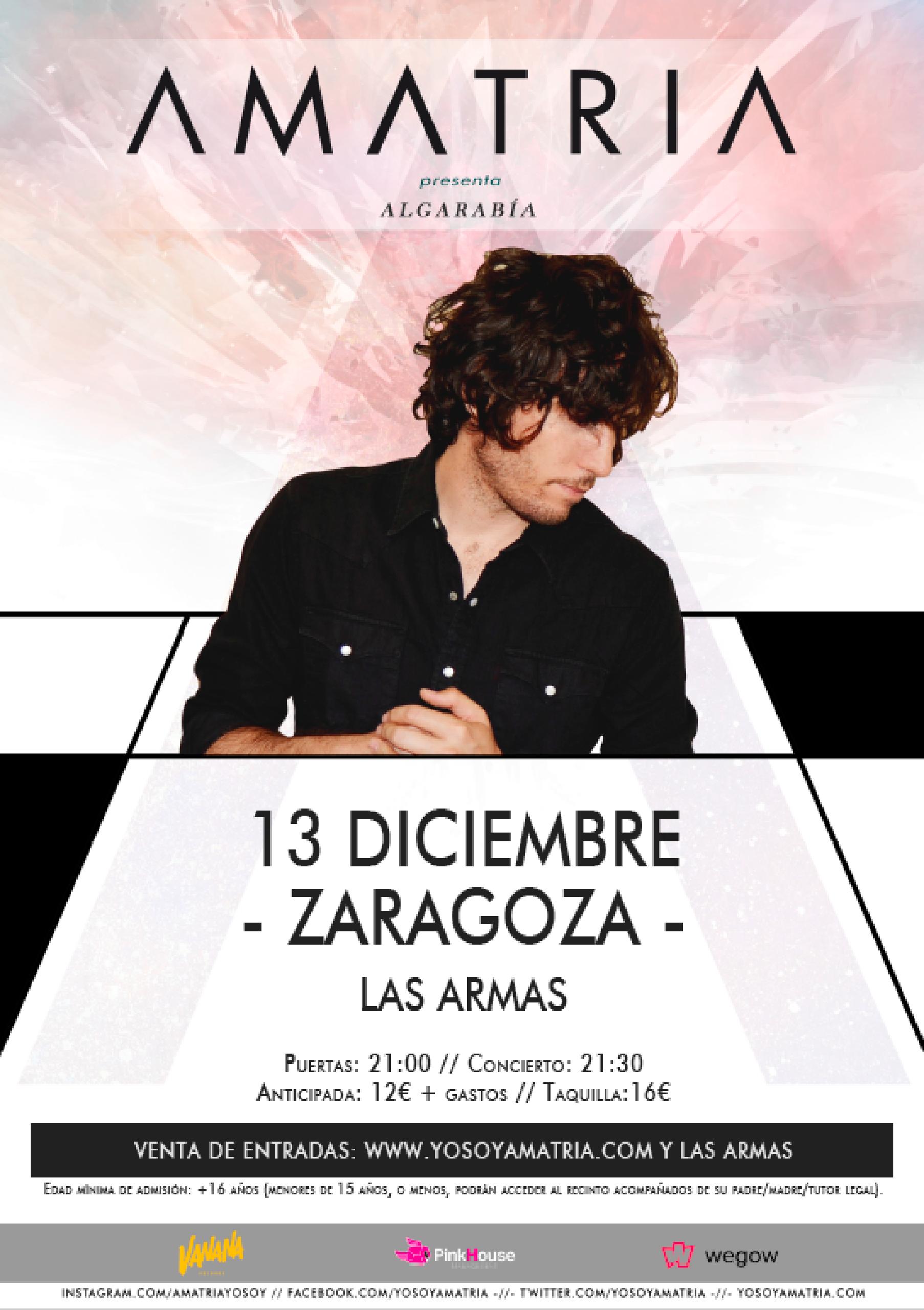 Cartel Amatria Zaragoza